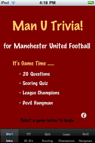 Screenshot Man U Trivia!
